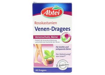 Витамины Abtei Rosskastanien Venen-Dragees 60таблеток