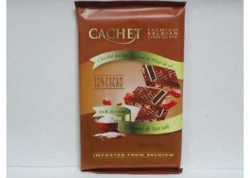 Шоколад Cachet Milk Chocolate Caramel n Sea salt 300gr (молочный, карамель и морская соль)