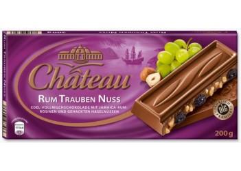 Шоколад Chateau Rum Trauben Nuss 200гр