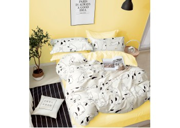 Комплект постельного белья B-0255 Sn Bella Villa Сатин-фотопринт 4 ед