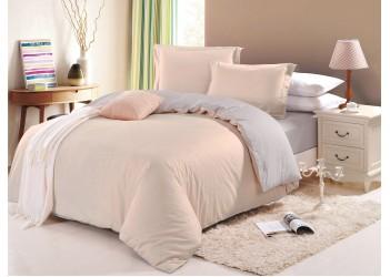 Комплект постельного белья B-0016 Eu  Bella Villa Сатин гладкокрашеный 4 ед