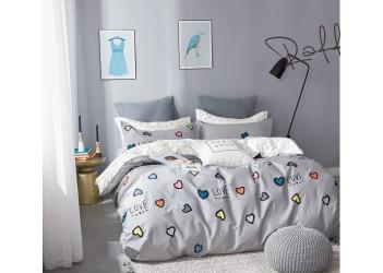 Комплект постельного белья/B-0203  Eu Bella Villa Сатин-фотопринт, 4 ед.
