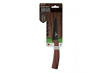 Нож для чистки овощей 9,0 см из нерж.стали с антиприг. покрытием, черный/темное дерево