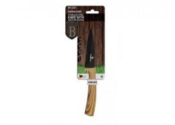 Нож для чистки овощей 9,0 см из нерж.стали с антиприг. покрытием, черный/светлое дерево