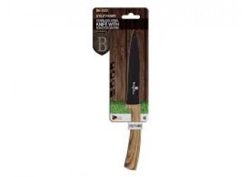 Нож универсальный  12,5 см из нерж.стали с антиприг. покрытием. Цвет черный/светлое дерево