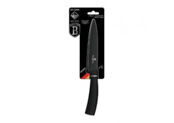 Нож универсальный 12,5 см из нерж.стали с антиприг. покрытием. Цвет черный/серебро