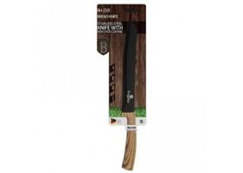Нож для хлеба 20,0 см из нерж. стали с антиприг. покрытием. Цвет черный/светлое дерево