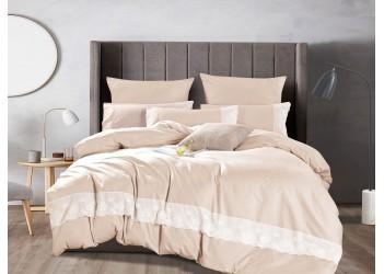 Комплект постельного белья B-0215 Eu Bella Villa Сатин с кружевом, 4 ед.