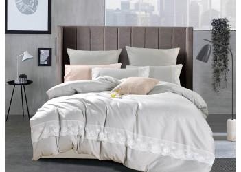 Комплект постельного белья B-0216 Eu Bella Villa Сатин с кружевом, 4 ед.