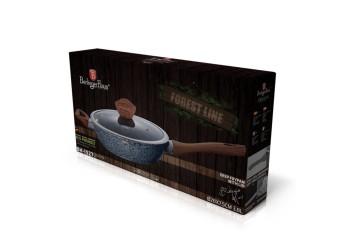 Сковорода глубокая  Ø28*7,5 см.из кован. алюм.,антиприг.покрытие;со стекл. крышкой.Цвет серый/коричн