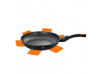Сковорода  Ø20*3,9 см из кован. алюм., антипригарное покрытие. Цвет черный/оранжевый