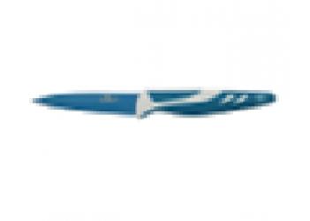 Нож для чистки овощей 9 см из нерж. стали с антиприг. покрытием. Цвет синий/белый