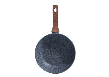 Сковорода-вок из кованого алюминия 3,2 л (Ø28х5,2 см), 3-х слойное гранитное антипригарное покрытие,