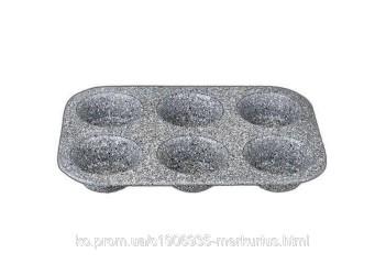 Формы для выпекания кексов, 26,5x17,5x3 см. Материал углеродистая сталь с мраморным покрытием. Выдер