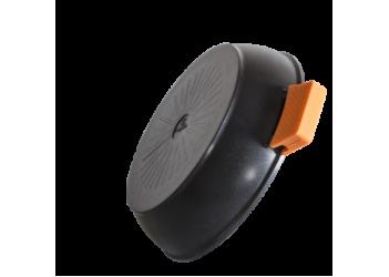 Сотейник  Ø28*7,5 см. 3,1л  из алюм.со стеклянной крышкой и съемными ручками.Цвет черный/оранж.