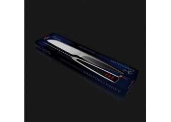 Нож Santoku 9,0 см из нерж. стали с эргономичной ручкой. Цвет стальной/черный.