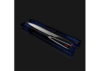 Нож для нарезки 20 см из нерж. стали с эргономичной ручкой. Цвет стальной/черный.