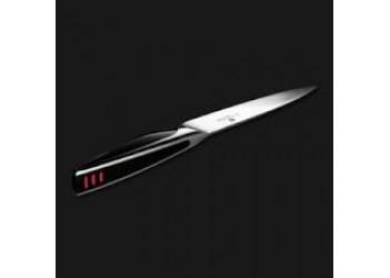 Нож для нарезки 9 см из нерж. стали с эргономичной ручкой. Цвет стальной/черный.