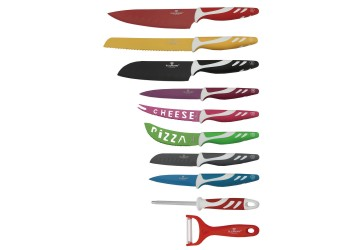 Нож для пиццы 11,5 см нерж. стали с антиприг. покрытием. Цвет зеленый/белый