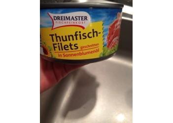 Консерва рыбная Thunfisch Filets in Sonnenblumenol (Филе Тунца в подсолнечном масле) 195g