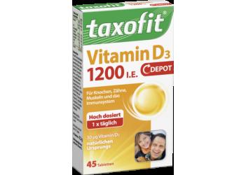 Витамины Taxofit Vatimin D3 1200   45 таблеток