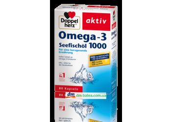 Витамины Doppel Herz OMEGA 3 (1000) 80капсул