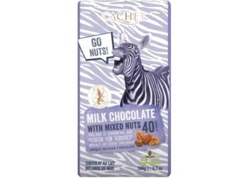 Шоколад Cachet Tansania Dark 40 % All-Nuts - 180g