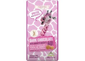 Шоколад Cachet Tansania Dark 60 % Biscuits - 180g