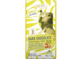 Шоколад Cachet Tansania Dark 60 % Fudge-Pecan - 180g