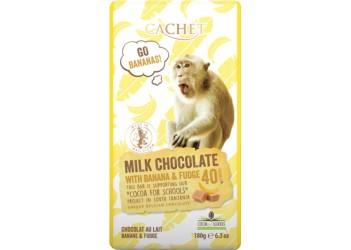 Шоколад Cachet Tansania Milk 40 % Banana Caramel  - 180g