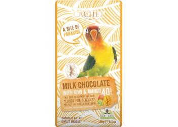 Шоколад Cachet Tansania Milk 40 % Kiwi-Mango - 180g