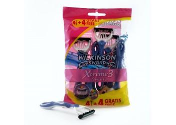 """Набір одноразових станків для гоління Wilkinson - Sword """"Xtreme 3 Beauty"""" - (4+4)шт"""