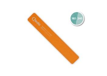 Професіональна пилка для штучних нігтів помаранчева в блістері