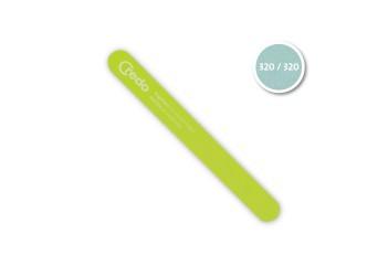 Професіональна пилка для пошкоджених нігтів зелена POP ART 180 мм в блістері
