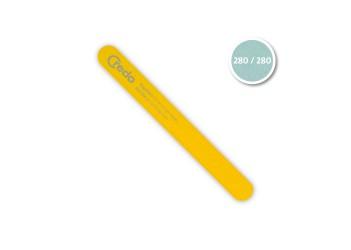 Професіональна пилка для розщеплених нігтів жовта  POP ART 180 мм в блістері