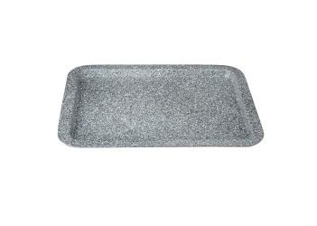 Форма для выпечки 38,5х27,5х1,7 см Материал : углеродистая сталь с мраморным покрытием. Выдерживает