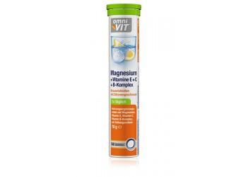 Витамины шипучие растворимые OMNI Vit Magnesium+Vitamine E+6+B-Komplex