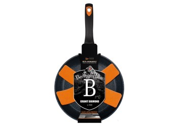 Сковорода  Ø24*4,8 см из кован. алюм., антипригарное покрытие. Цвет черный/оранжевый