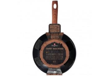 Сковорода-вок Ø28*7,4 см из кован.алюм.,  гранитное антиприг.покрытие.Цвет черный/коричн
