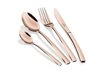 Набор столовых приборов 24 пр из нержавеющей стали, глянцевая полировка. Комплектность: 4 шт ножей с