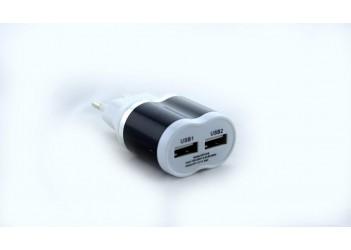Адаптер (зарядка) USB 030  (2 выхода по 5В 2,1А)