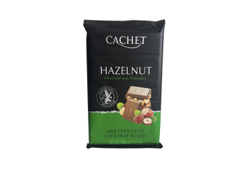 Шоколад Cachet Milk chocolate Hazelnut 300gr (молочный, орех )