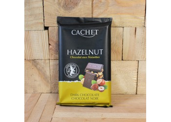 Шоколад Cachet Dark chocolate Hazelnut 300gr (черный, орех )