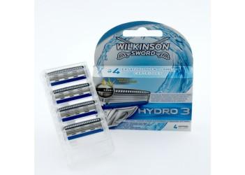 """Набір змінних лез Wilkinson - Sword """" Hydro 3"""" - 4шт"""