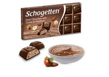 Шоколад Schogetten Dark Chocolate with Cocoa & Hazelnuts  100g