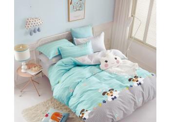 Комплект постельного белья/B-0185 Sn Bella Villa Сатин-фотопринт, 4 ед.