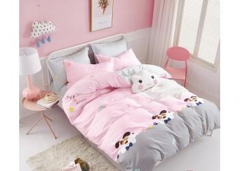 Комплект постельного белья/B-0186 Sn Bella Villa Сатин-фотопринт, 4 ед.